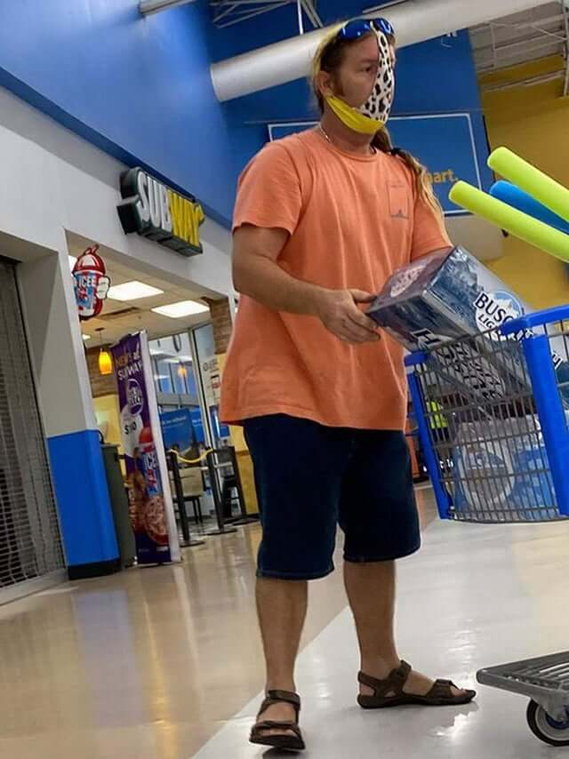 Ghetto facemask in Walmart