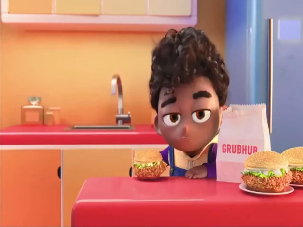 Grubhub cringey ad & remakes